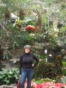 me, in a beautiful indoor garden