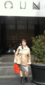 In front of the Paramount building where I now work!