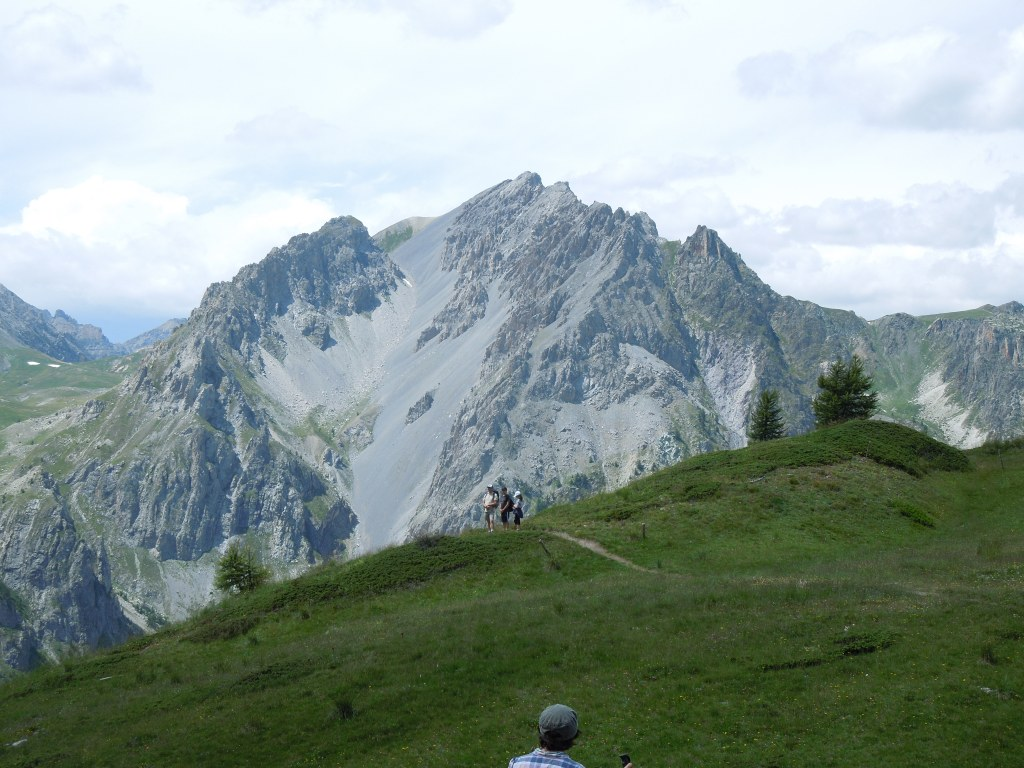 Hiking with family in the Alps